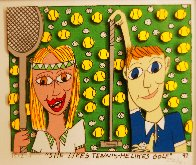 She Likes Tennis - He Likes Golf 1997 3-D Limited Edition Print by James Rizzi - 2