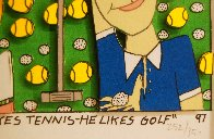 She Likes Tennis - He Likes Golf 1997 3-D Limited Edition Print by James Rizzi - 4