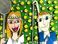 She Likes Tennis - He Likes Golf 1997 3-D Limited Edition Print by James Rizzi - 0