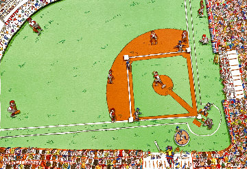 Baseball 1983 3-D Limited Edition Print - James Rizzi