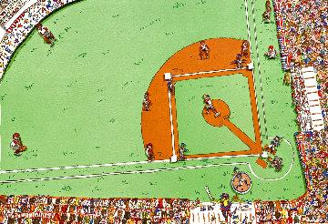 Baseball 1983 3-D Limited Edition Print - James Rizzi
