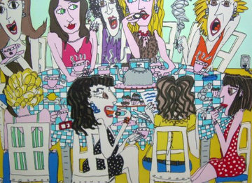 Tea Party 3-D 1990 Limited Edition Print - James Rizzi