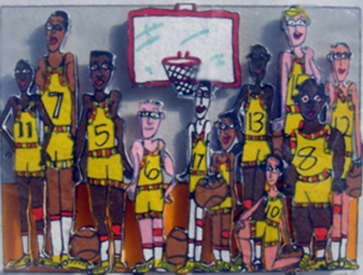 Basketball Team Photo 3-D 1998 Limited Edition Print by James Rizzi