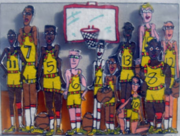 Basketball Team Photo 3-D 1998 Limited Edition Print - James Rizzi