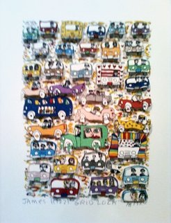Gridlock 3-D 1982 Limited Edition Print by James Rizzi