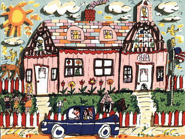 Country House AP 3-D 1989 Limited Edition Print - James Rizzi