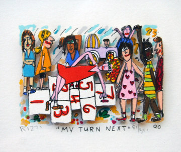 My Turn Next 3-D 1990 Limited Edition Print by James Rizzi