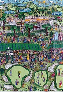 Strokes of Genius 3-D 1991 Golf Limited Edition Print - James Rizzi