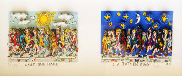 Last One Home is a Rotten Egg 3-D Limited Edition Print by James Rizzi