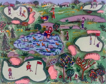 Par 4 the Course, 3-D 1987 Golf Limited Edition Print - James Rizzi