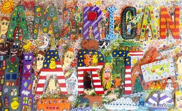 American Art 3-D 1977 Limited Edition Print by James Rizzi