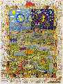 A Village For the World 3-D 1996 Limited Edition Print - James Rizzi