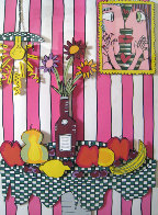 Passion Fruit Pink 3-D Limited Edition Print by James Rizzi - 0