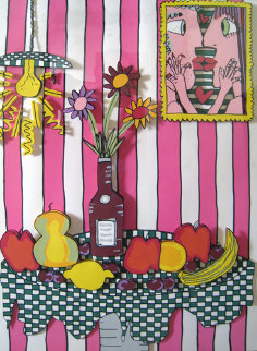 Passion Fruit Pink 3-D Limited Edition Print by James Rizzi