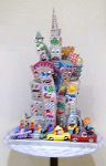 New York is My Castle Resin Sculpture 1989 Sculpture - James Rizzi