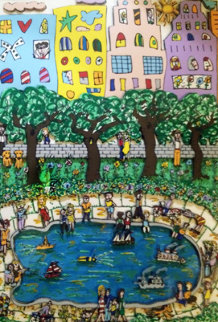 Park Pond 3-D 1984 Limited Edition Print - James Rizzi
