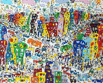 Crosstown Traffic 3-D 1983 Limited Edition Print - James Rizzi