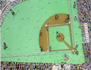 Baseball 3-D 1983 Limited Edition Print by James Rizzi