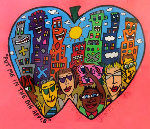 Put Me in the Big Apple Watercolor 1993 Watercolor - James Rizzi