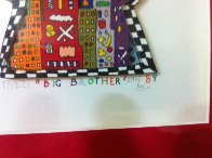 Big Brother TV Show 1989 3-D Limited Edition Print by James Rizzi - 3