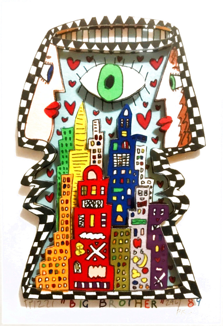 Big Brother TV Show 1989 3-D Limited Edition Print by James Rizzi