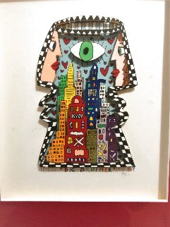 Big Brother 3-D 1989 TV Show Limited Edition Print by James Rizzi