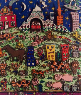 Dreamland  3-D AP 1988 Limited Edition Print by James Rizzi