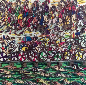 Triathlon AP 3-D 1989 Limited Edition Print by James Rizzi