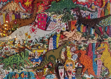 Time Warp 3-D 1989 Limited Edition Print by James Rizzi