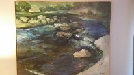 Over the Falls 1996 48x60 Original Painting by Robin John Anderson - 1