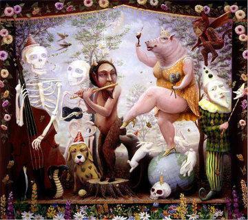 Glimpse into Eternity 2010 38x40 Super Huge Original Painting - Robert  Anderson