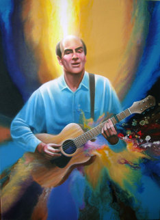 Portrait of James Taylor 2002 41x30 Original Painting - Robert Katona