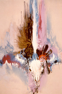 Last of the Buffalo 62x42 Original Painting by Robert Katona
