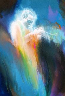 Miles Davis 2000 41x28 Original Painting - Robert Katona