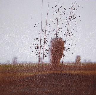 Afternoon Sun 1980 22x22 Original Painting by Robert Kipniss