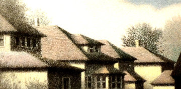 Rooftops - Springfield 1977 Limited Edition Print - Robert Kipniss