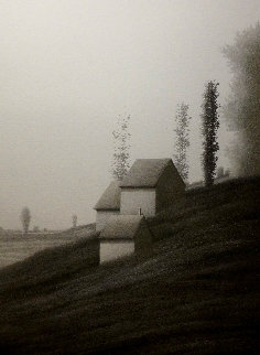Tall Houses in Fields AP Limited Edition Print - Robert Kipniss
