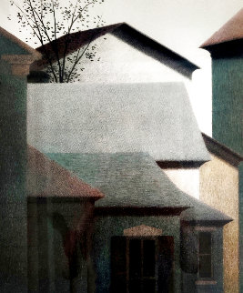 Rooftops 1990 Limited Edition Print - Robert Kipniss