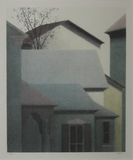 Rooftops, Elsah Limited Edition Print - Robert Kipniss