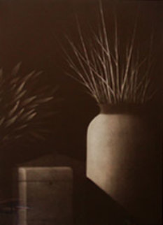 Nocturne: Still Life with Two Vases Limited Edition Print - Robert Kipniss