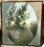 Attic Window 1968 25x27 (Very Early) Original Painting by Robert Kipniss - 1