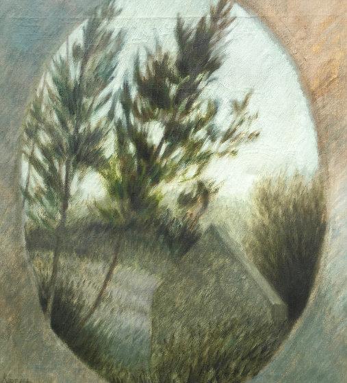 Attic Window 1968 25x27 (Very Early) Original Painting by Robert Kipniss