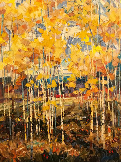 Aspen Splendor 40x30 Original Painting - Robert Moore