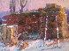 Winter Haystack 2001 16x20 Original Painting by Robert Moore - 0
