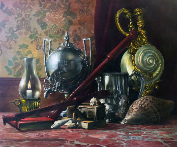 Untitled Still Life 38x44 Original Painting - Roberto Lupetti