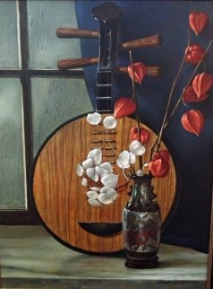Still Life With Lute 24x18 Original Painting - Roberto Lupetti