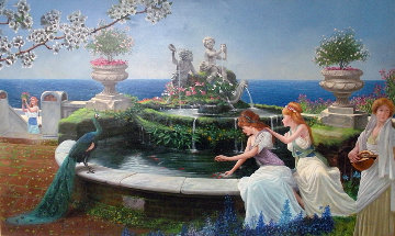 Rebirth of the Renaissance 1987 44x68 Super Huge Original Painting - Roberto Lupetti