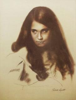 Girl Portrait 31x25 Original Painting - Roberto Lupetti