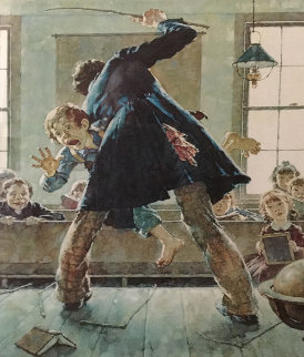 Spanking AP 1973 Limited Edition Print - Norman Rockwell