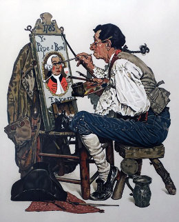 Ye Pipe And Bowl 1976 Limited Edition Print by Norman Rockwell
